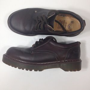 Dr Martens Brown Leather Lace Up Causal Shoes